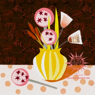 orange-mid-century-modern-art-illustration-collage